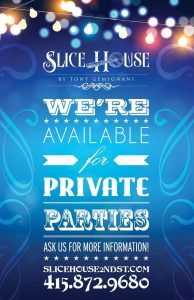 WE'RE AVAILABLE FOR SPECIAL EVENTS